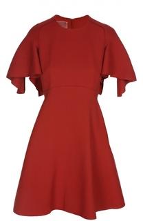 Приталенное мини-платье с объёмными рукавами Giambattista Valli