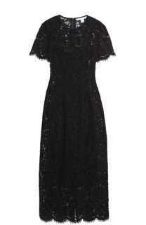 Кружевное облегающее платье с коротким рукавом Diane Von Furstenberg