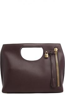 Кожаная сумка-тоут Medium Alix с косметичкой Tom Ford