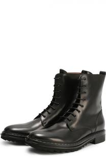 Высокие кожаные ботинки с декоративной отделкой ранта Givenchy