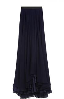 Шелковая юбка-макси с подолом Lanvin