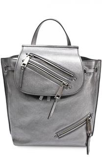 Рюкзак Zip Pack из металлизированной кожи Marc Jacobs