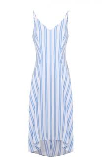 Платье свободного кроя в полоску с V-образным вырезом Balenciaga