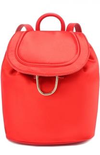 Рюкзак из атласа с кожаной отделкой Diane Von Furstenberg