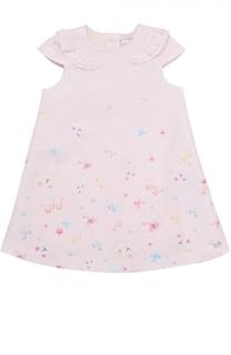 Платье из хлопка с принтом Tartine Et Chocolat