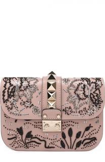 Сумка Glam Lock small с вышивкой бисером Valentino