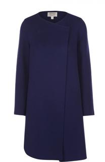 Шерстяное пальто прямого кроя Armani Collezioni