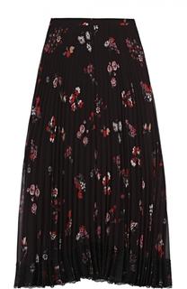 Плиссированная юбка-миди с цветочным принтом REDVALENTINO