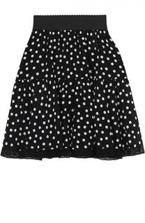 Шелковая мини-юбка в горох Dolce & Gabbana
