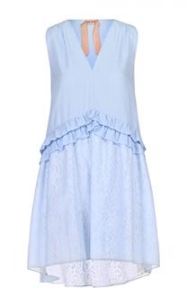 Платье свободного кроя с оборками No. 21