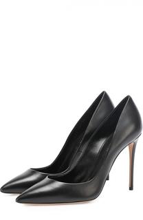 Кожаные туфли на шпильке Casadei
