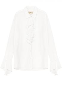 Блуза прямого кроя с жабо Denim&Supply by Ralph Lauren
