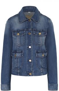 Джинсовая куртка прямого кроя с накладными карманами MICHAEL Michael Kors