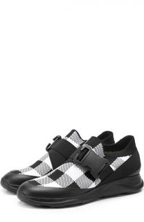 Комбинированные кроссовки с ремешком Christopher Kane