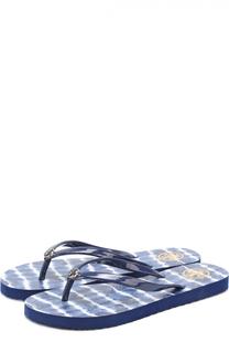 Резиновые шлепанцы с логотипом бренда Tory Burch
