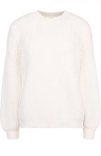Пуловер фактурной вязки с круглым вырезом Victoria Beckham