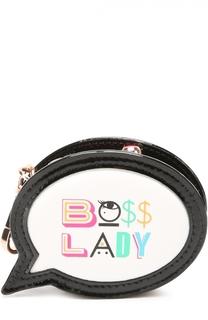 Кожаный кошелек с принтом Boss Lady Sophia Webster