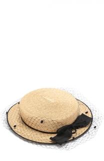 Соломенная шляпа с бантом Inverni