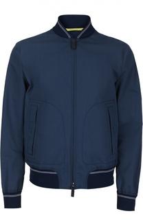 Куртка-бомбер из смеси хлопка и шелка Canali
