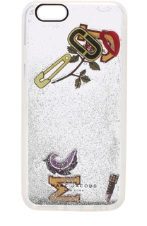 Чехол для iPhone 6/6S с принтом и глиттером Marc Jacobs