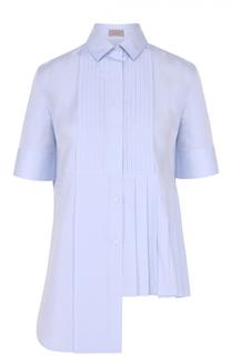 Хлопковая блуза асимметричного кроя с плиссировкой MRZ