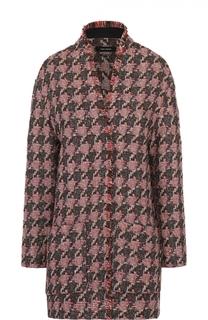 Буклированный жакет с принтом гусиная лапка и накладными карманами Isabel Marant