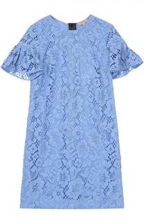 Кружевное мини-платье с коротким рукавом Burberry