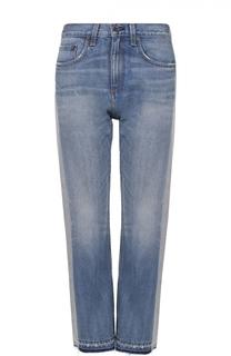 Укороченные расклешенные джинсы с лампасами Rag&Bone Rag&Bone