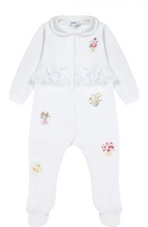 Пижама из хлопка с вышивкой Aletta
