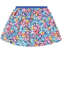 Юбка из хлопка с цветочным принтом Polo Ralph Lauren
