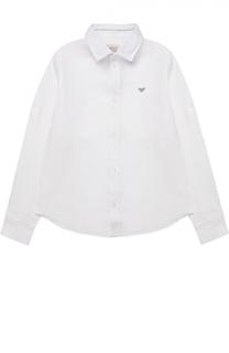 Классическая рубашка из льна Giorgio Armani