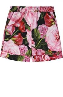 Шорты из хлопка с цветочным принтом Dolce & Gabbana