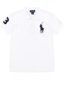 Поло из хлопка с логотипом бренда Polo Ralph Lauren