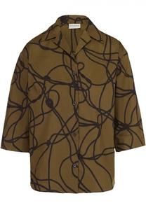 Блуза прямого кроя с укороченным рукавом Dries Van Noten