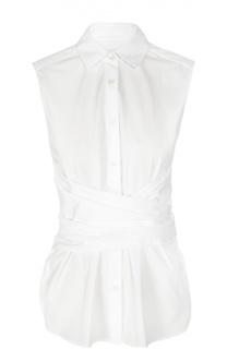 Блуза без рукавов с широким поясом Dries Van Noten
