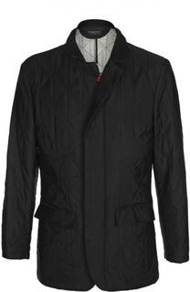 Стеганая куртка из шелка Kiton