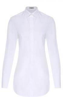 Удлиненная хлопковая блуза прямого кроя Valentino