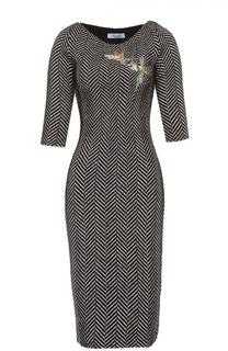 Платье-футляр с укороченным рукавом Blumarine