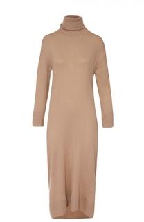 Вязаное платье прямого кроя с высоким воротником Balenciaga
