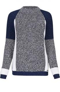 Пуловер с удлиненным рукавом и контрастным принтом Dsquared2