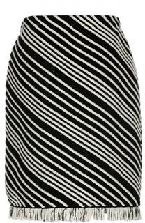 Вязаная юбка с рельефной отделкой и бахромой Sonia Rykiel
