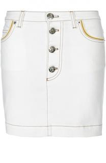 Джинсовая мини-юбка с контрастной отделкой Sonia Rykiel