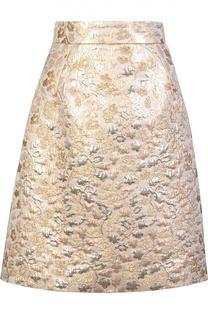 Юбка-миди А-силуэта с металлизированной отделкой Dolce & Gabbana