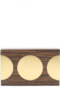 Клатч из дерева с отделкой металлом Stella McCartney