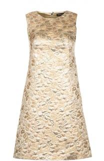 Мини-платье А-силуэта с металлическим эффектом Dolce & Gabbana