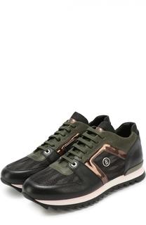 Кожаные кроссовки с контрастной отделкой Bogner
