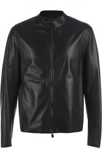 Кожаная куртка-бомбер DROMe