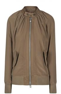 Куртка-бомбер с воротником-стойкой и накладными карманами Yohji Yamamoto