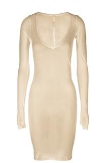 Облегающее полупрозрачное платье с глубоким вырезом Isabel Benenato