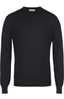 Пуловер тонкой вязки из смеси кашемира и шелка Cruciani